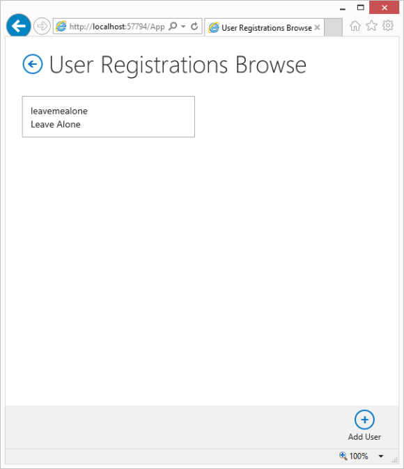 17 - UserRegistrationsBrowse